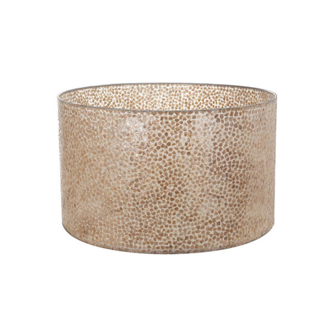 Villaflor schelpenlamp - Wangi Gold - Losse kap - cilinder Ø 55 cm