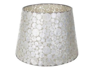 Villaflor Schelpenlamp - Coin White - Losse kap - conisch Ø 40-55 cm