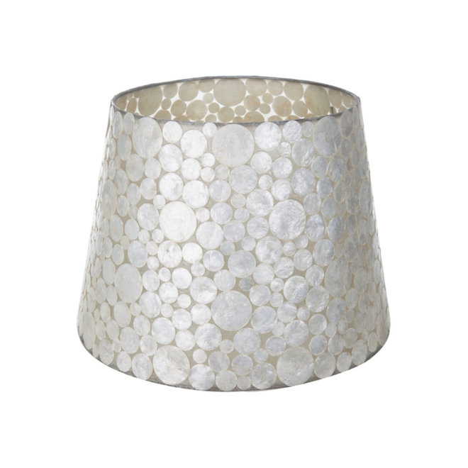 Schelpenlamp - Coin White - Losse kap - conisch Ø 40-55 cm