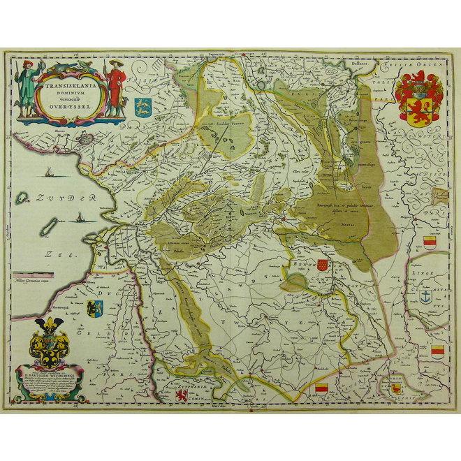 Collectie Gouldmaps - Overijssel, Drenthe; W. & J. Blaeu - Transiselania dominium (..) - 1635-1660