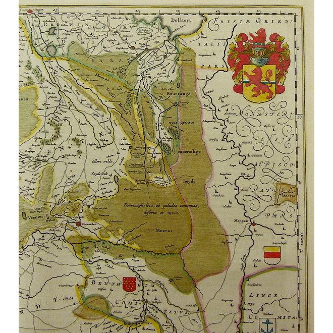 Collectie Gouldmaps - Overijssel, Drenthe; W. & J. Blaeu - Transiselania dominium vernaculè Over-yssel - 1635-1660