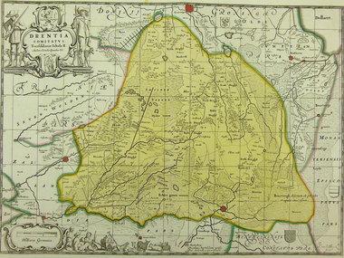 Gouldmaps Schenk P. / J. Janssonius - Drentia Comitatus. - 1700 ca.