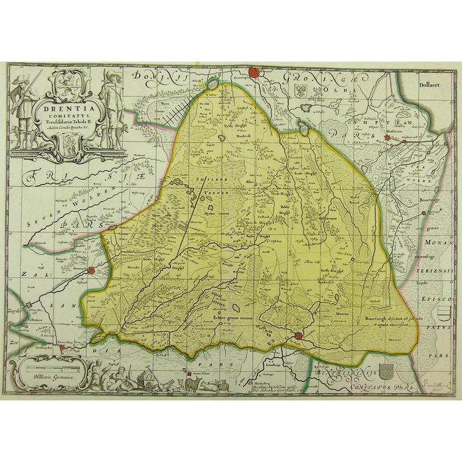 Collectie Gouldmaps - Drenthe; P. Schenk  / J. Janssonius - Drentia Comitatus. - 1700 ca.