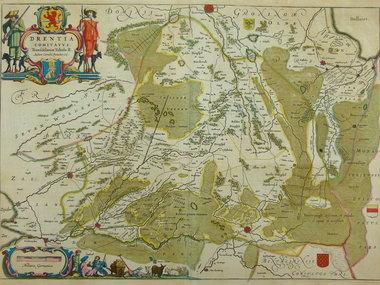 Gouldmaps Blaeu W.J. & J. - Drentia Comitatus. - 1635-1650