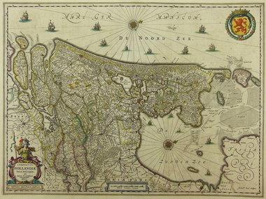 Gouldmaps Janssonius J. - Comitatus Hollandiae (..).  - 1652