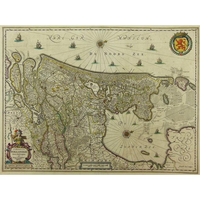 Collectie Gouldmaps - Holland; J. Janssonius - Comitatus Hollandiae (..).  - 1652