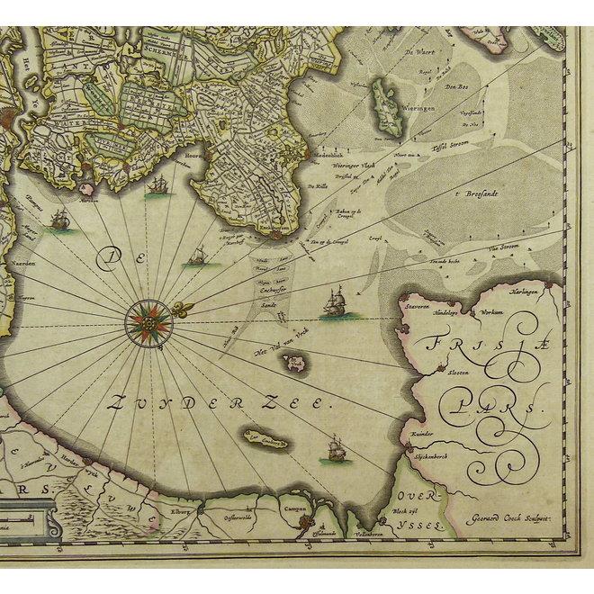J. Janssonius - Comitatus Hollandiae (..).  - 1652