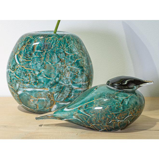 Glass Art Vaas Coco, Dark Ocean