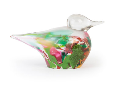 Fidrio Glass Art Bird, Mixed Colours