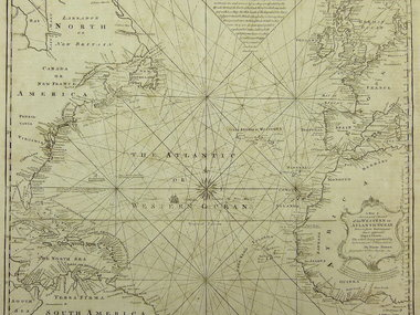 Gouldmaps Atlantische Oceaan ; E. Bowen - Chart of the Western of Atlantic Ocean. - 1764
