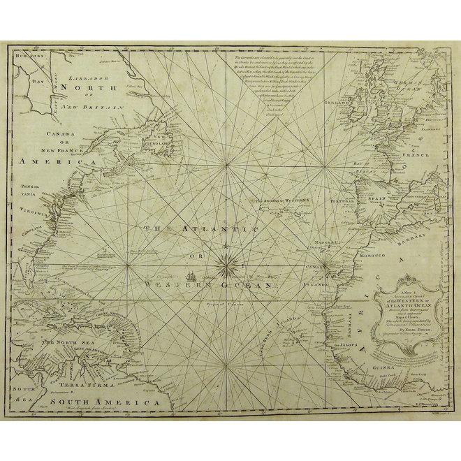 Collectie Gouldmaps - Atlantische Oceaan; E. Bowen - Chart of the Western of Atlantic Ocean. - 1764