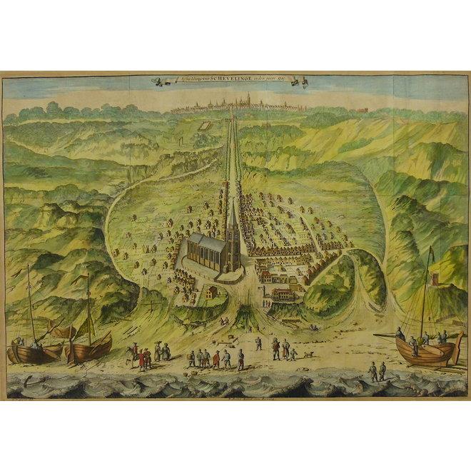 Collectie Gouldmaps - Scheveningen / Den Haag ; G. van Giesen - Afbeeldinge van Schevelinge (..). - 1730