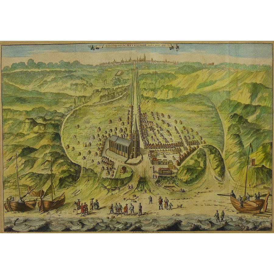 Gouldmaps Scheveningen / Den Haag - G. van Giesen - Afbeeldinge van Schevelinge in den Jaare 1729. - 1730