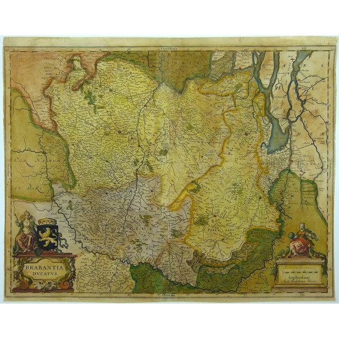 Verkocht - Collectie Gouldmaps - Blaeu W. & J.  - Brabantia Ducatus. - 1635-1672