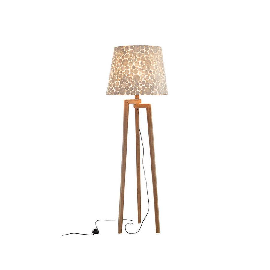 Villaflor Villaflor schelpenlamp - Coin White - Losse kap - conisch Ø 40-55 cm