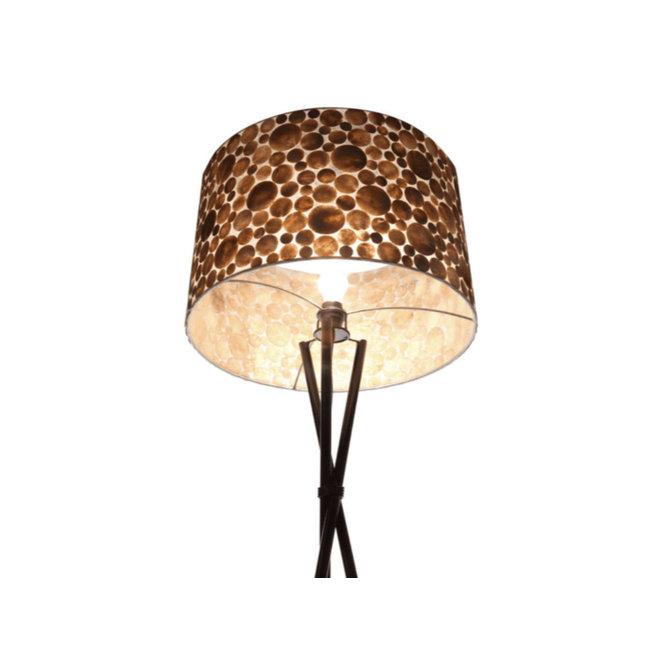 Villaflor schelpenlamp - Coin Gold - Losse kap - cilinder Ø 55 cm