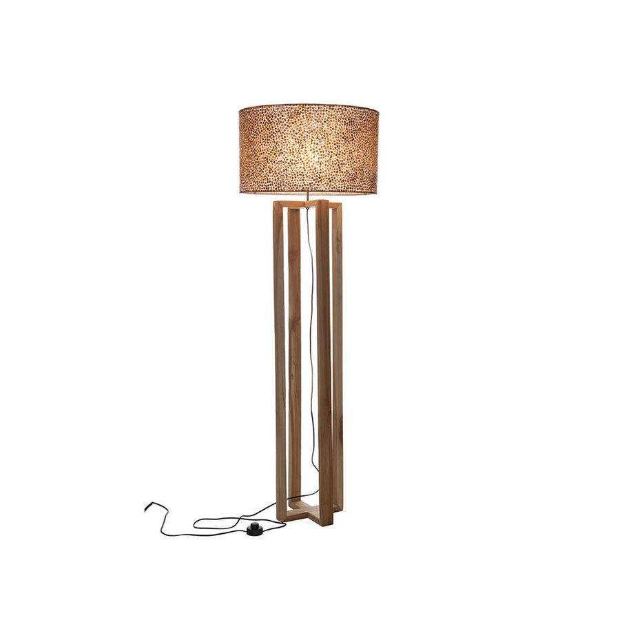 Villaflor Villaflor schelpenlamp - Wangi Gold - Losse kap - cilinder Ø 55 cm