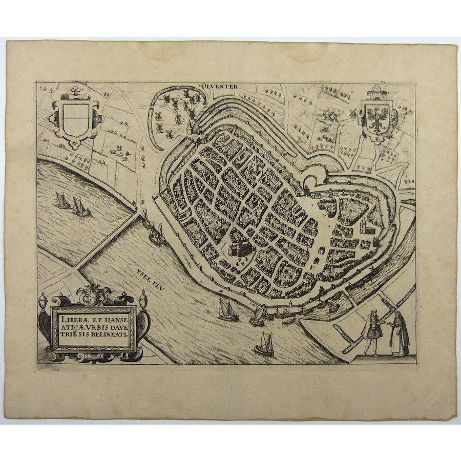 Gouldmaps Deventer - L. Guicciardini - Liberae et Hanse Aticae Urbis Davetrie Delineati. - 1612