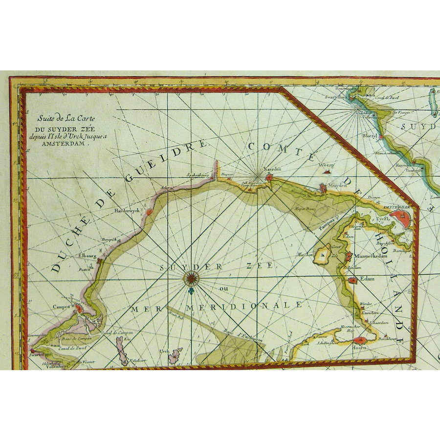 Gouldmaps Zuiderzee; P. Mortier - Carte des Entrees du Suyder Zee (..). - 1693