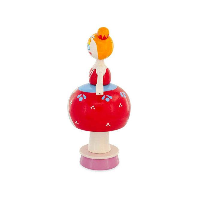 Dame met ballonrok, rood