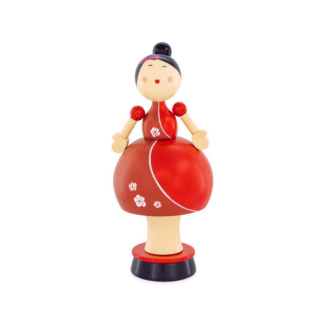 Dame met ballonrok, Japans