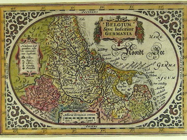 Gouldmaps XVII Provinciën; A. Goos / J. Janssonius - Belgum Sive inferior germania - 1628  ca.