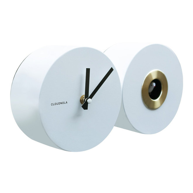 Cloudnola Cuckoo EPL Nightingale Clock White