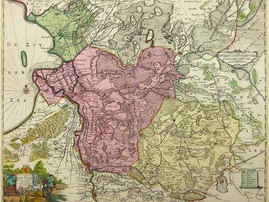 Gouldmaps Ottens R. & J. - Transisalania vulgo Over-Yssel. - 1730 ca.