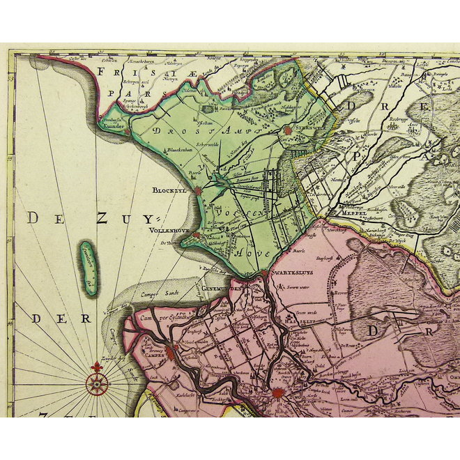 Collectie Gouldmaps - Overijssel; R. & J. Ottens - Transisalania vulgo Over-Yssel. - 1730 ca.