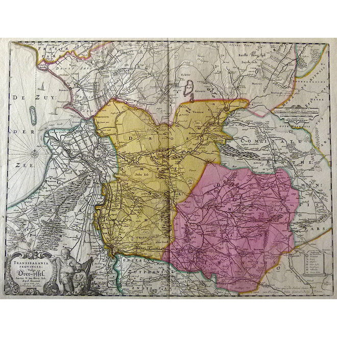 Collectie Gouldmaps - Overijssel - P. Schenk jr.; Transisalania Provincia (..). - 1720 ca.