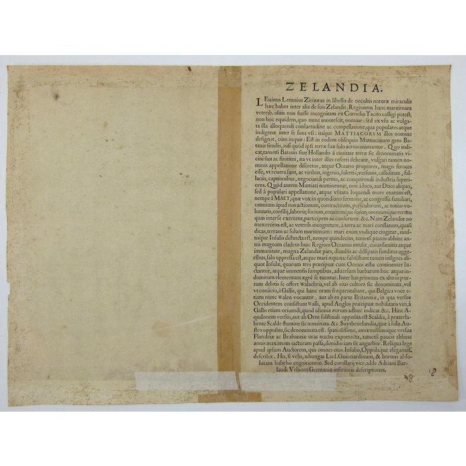 Collectie Gouldmaps - Zeeland; A. Ortelius - Zelandicarum Insularum (..). 1570