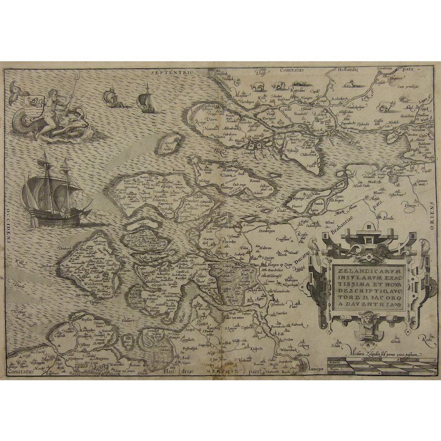 Gouldmaps A. Ortelius - Zelandicarum Insularum (..). - 1570