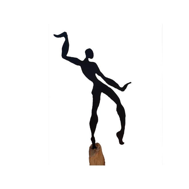 Tuinbeeld Swinging Man on Stand