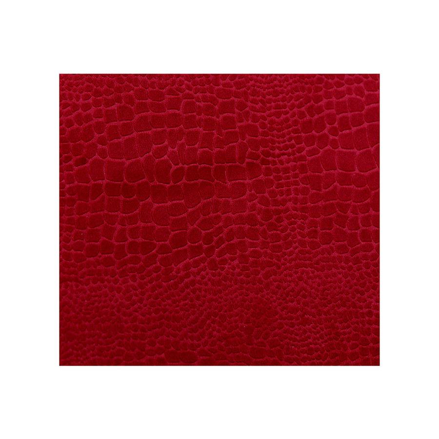 Casablanca Magazine Basket 'Snake', velvet red