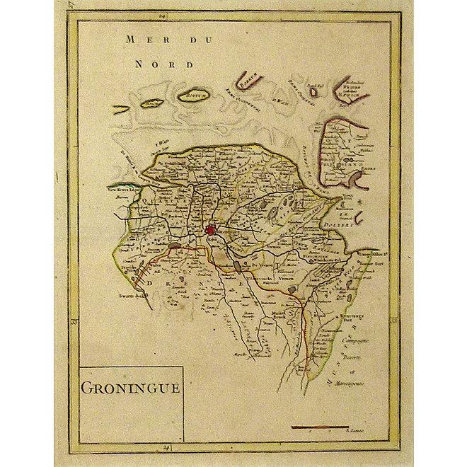 Collectie Gouldmaps - Groningen; G.L. le Rouge - Groningue - 1748