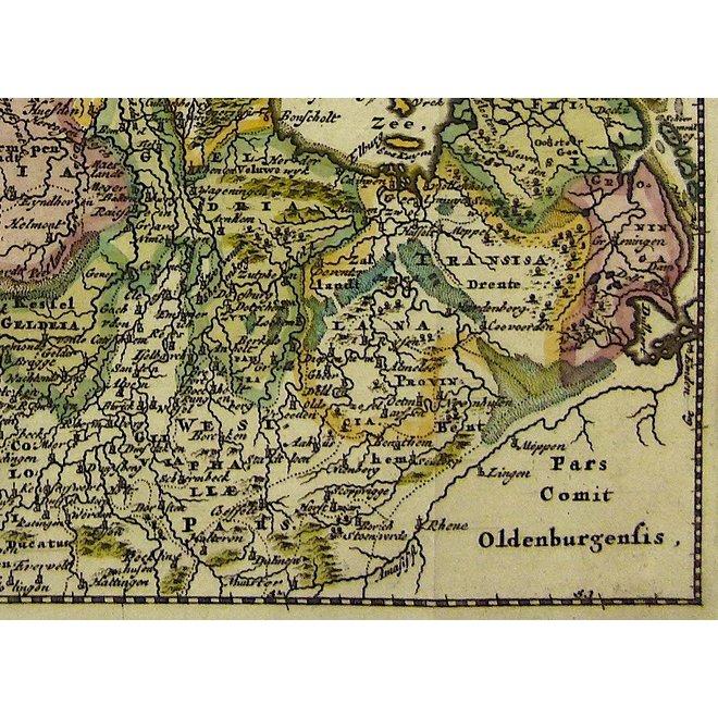 Collectie Gouldmaps - XVII Provinciën;  P. Cluverius / J. Wolters - Hodiernae Belgicae sive Germaniae Inferioris - 1697