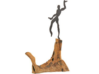 Schlittler Swinging Man on wood