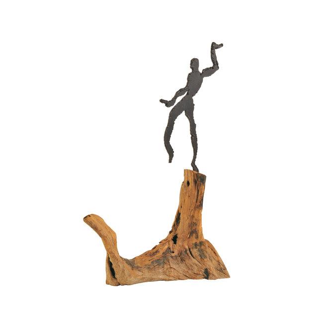 Swinging Man on wood
