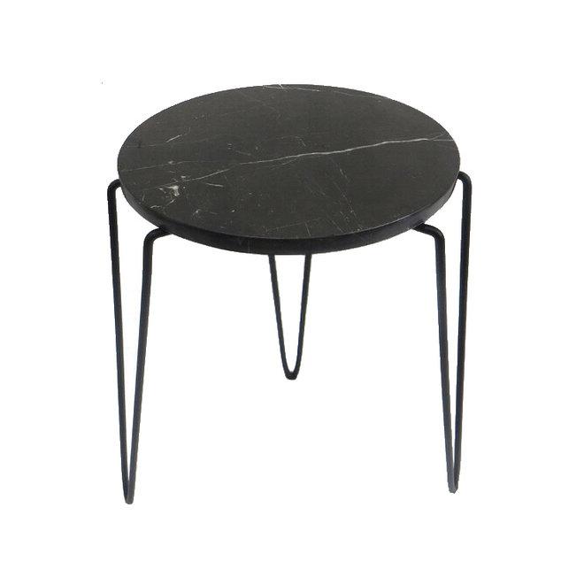 Side Table Black Marble