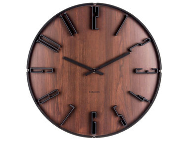 Karlsson Wall Clock Sentient Dark Wood