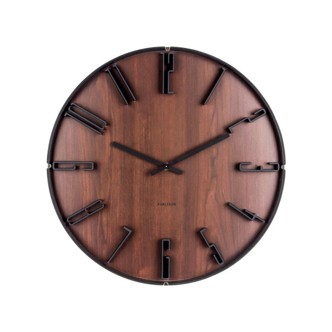 Wall Clock Sentient Dark Wood