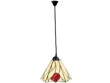 Art Deco Trade Tiffany Hanglamp Tulip, linnen snoer