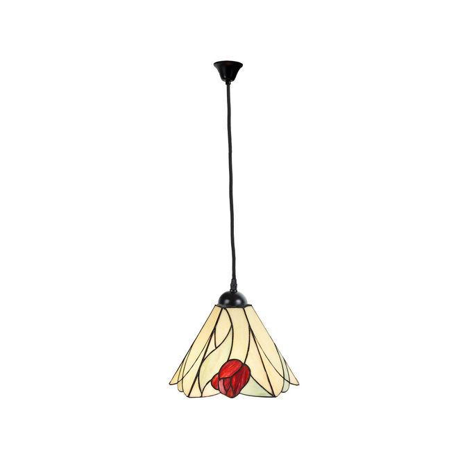 Tiffany Hanglamp Tulip, linnen snoer