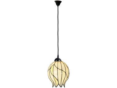 Art Deco Trade Tiffany Hanglamp Nature Open, linnen snoer
