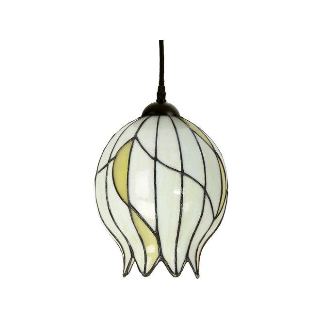 Tiffany Hanglamp Nature Open, linnen snoer