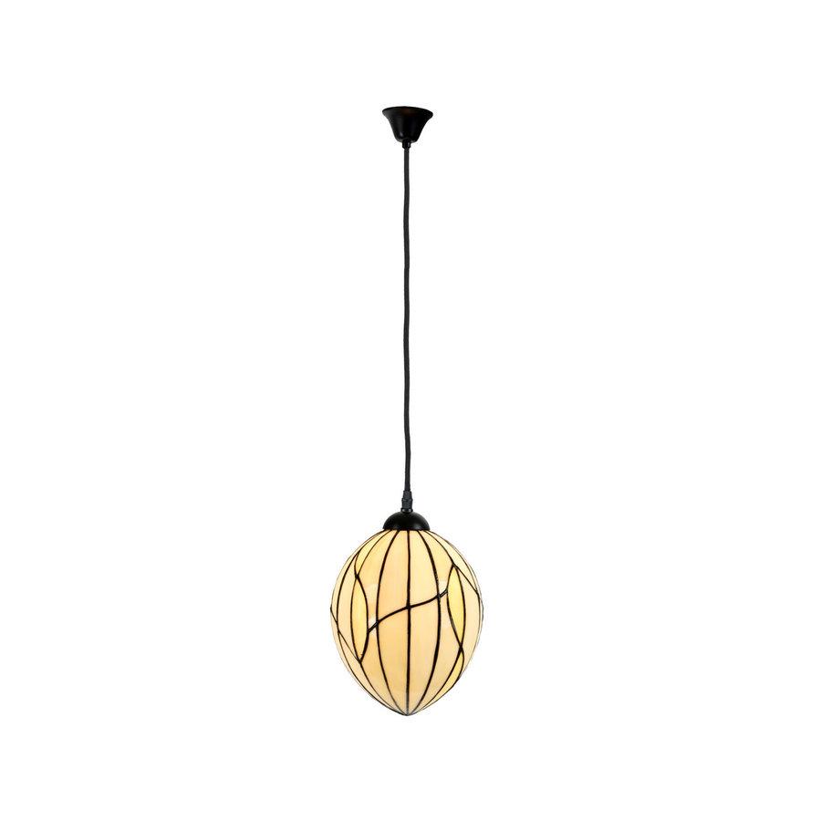 Art Deco Trade Tiffany Hanglamp Nature, linnen snoer