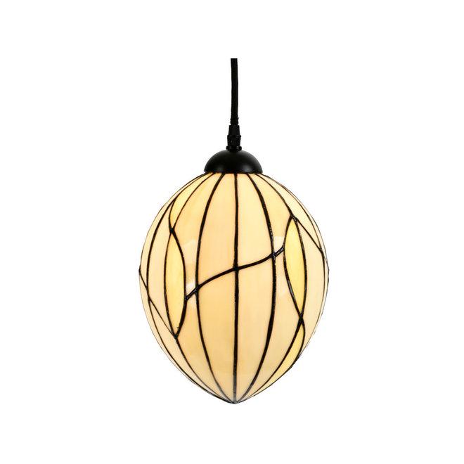 Tiffany Hanglamp Nature, linnen snoer
