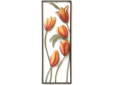 Sampaguita Wall Art Orange Tulips 90x30