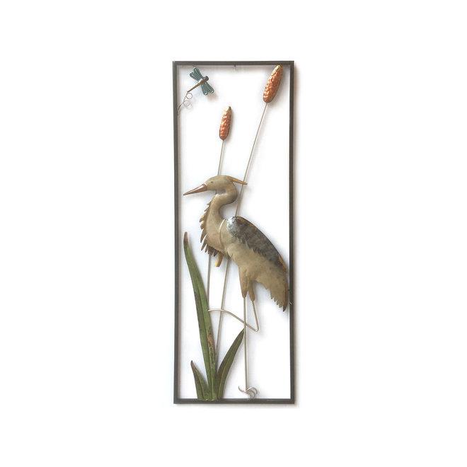 Wall Art Heron in Swamp 90x30