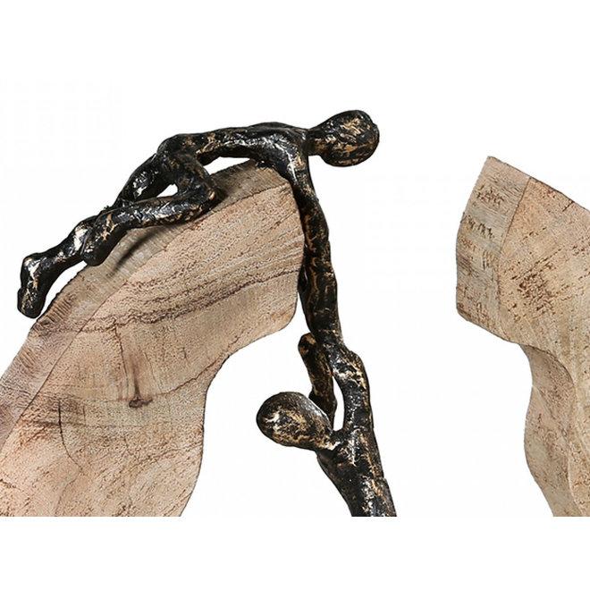 Sculptuur in hout 'Teamwork'